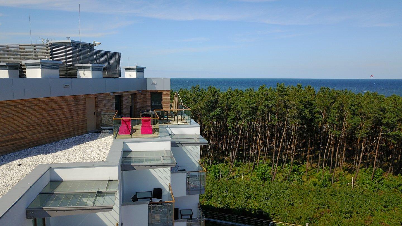 Widok apartamentowca w lotu ptaka - Aparthotel