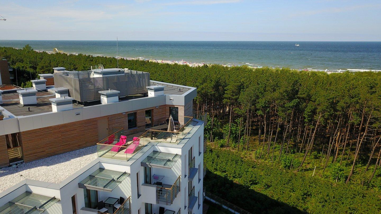 Apartamenty Gwiazda Północy - taras apartamentu Penthouse Gwiazda Północy