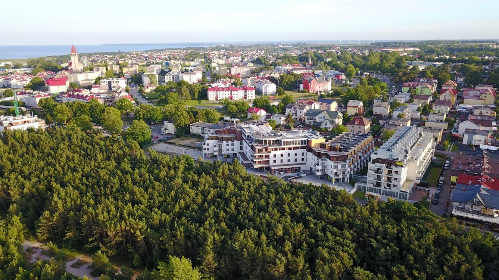 Maloves (Velaves) - widok apartamentów od strony morza - Władysławowo